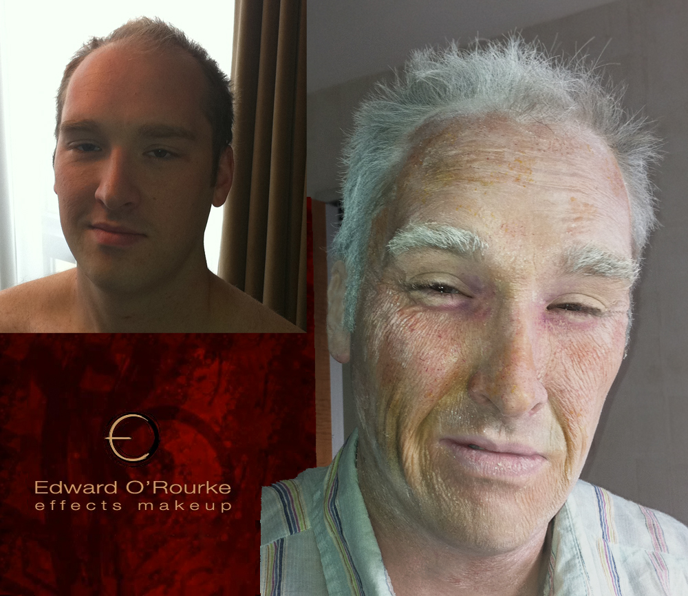 Aging technique using just latex no prosthetics.